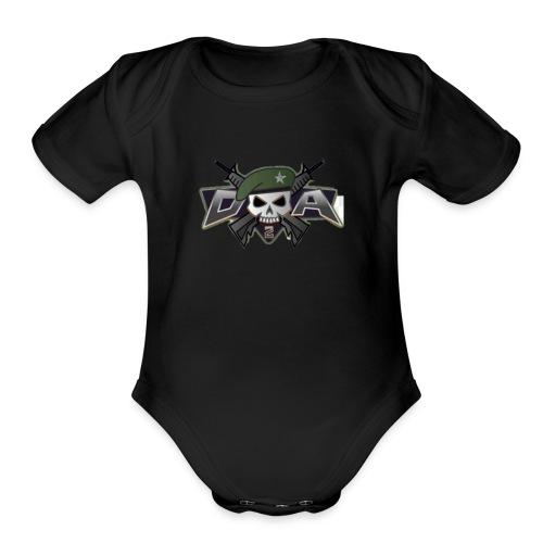 Mini militia t -shirts - Organic Short Sleeve Baby Bodysuit