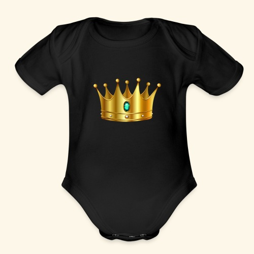 Royal Crown - Organic Short Sleeve Baby Bodysuit