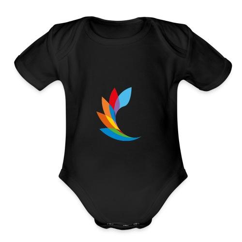shirt color beautiful - Organic Short Sleeve Baby Bodysuit