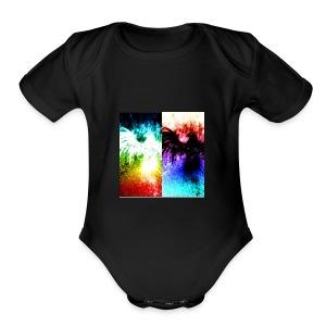 Birds of color - Short Sleeve Baby Bodysuit