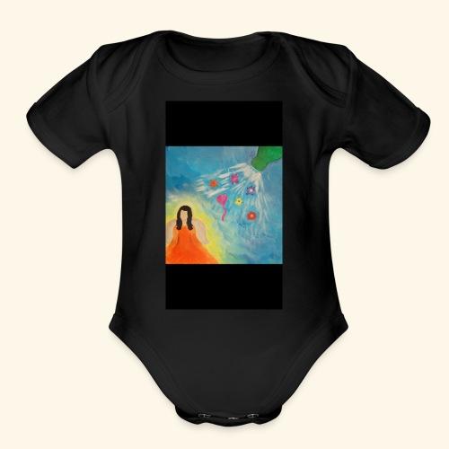 God send gifts - Organic Short Sleeve Baby Bodysuit