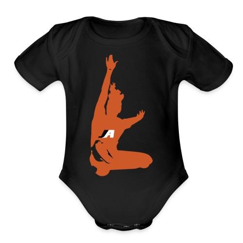 JUMP GIRL LOGO - Organic Short Sleeve Baby Bodysuit