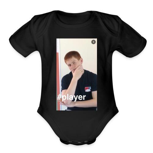 PLayer - Organic Short Sleeve Baby Bodysuit