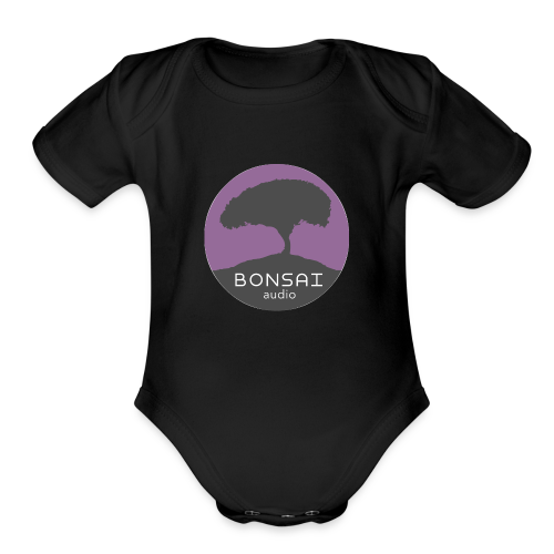 Bonsai Audio Logo - Organic Short Sleeve Baby Bodysuit