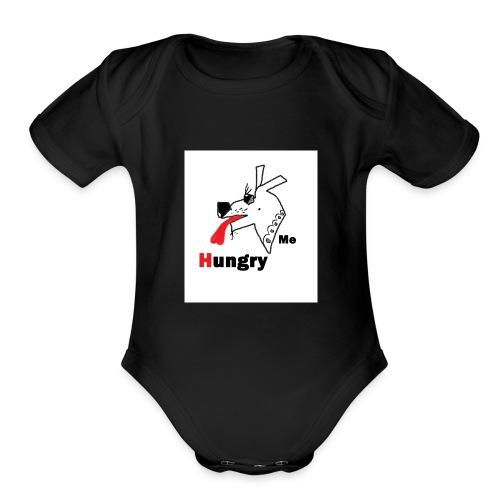 Hungry Me - Organic Short Sleeve Baby Bodysuit
