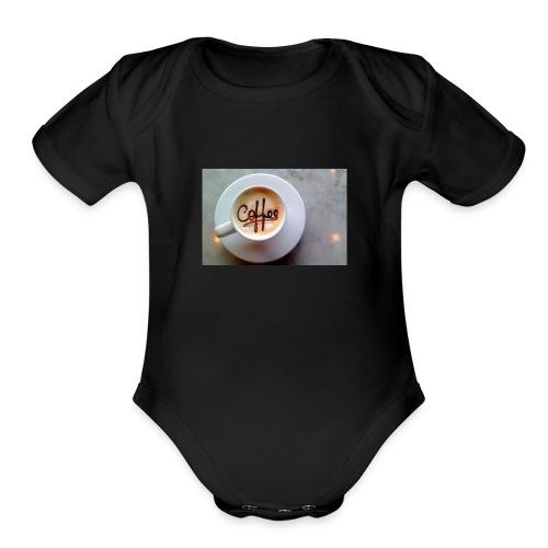 Coffee - Organic Short Sleeve Baby Bodysuit