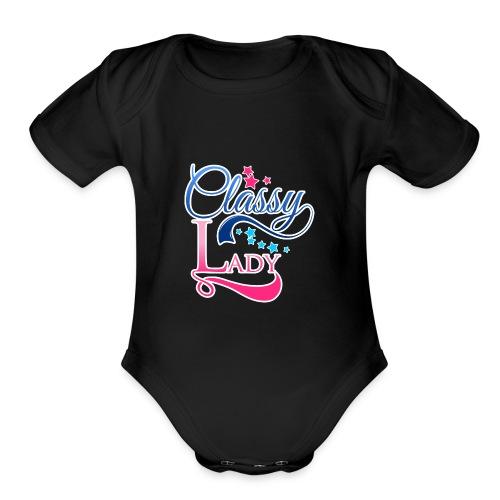 Classy Lady Tee - Organic Short Sleeve Baby Bodysuit