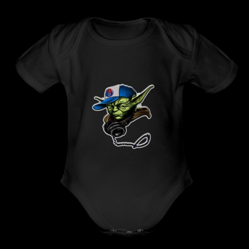 dj yoda - Organic Short Sleeve Baby Bodysuit