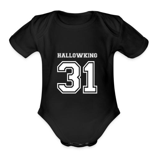 Halloween Hallowking - Organic Short Sleeve Baby Bodysuit
