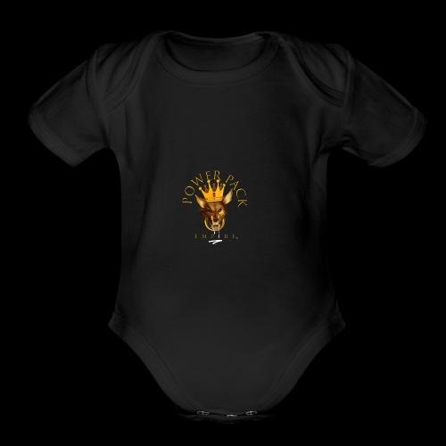 Power Pack Empire Official Logo - Organic Short Sleeve Baby Bodysuit