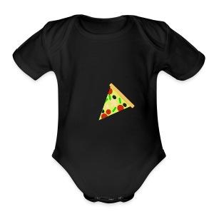 pizzza - Short Sleeve Baby Bodysuit