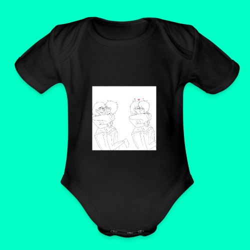 Cute couple - Organic Short Sleeve Baby Bodysuit