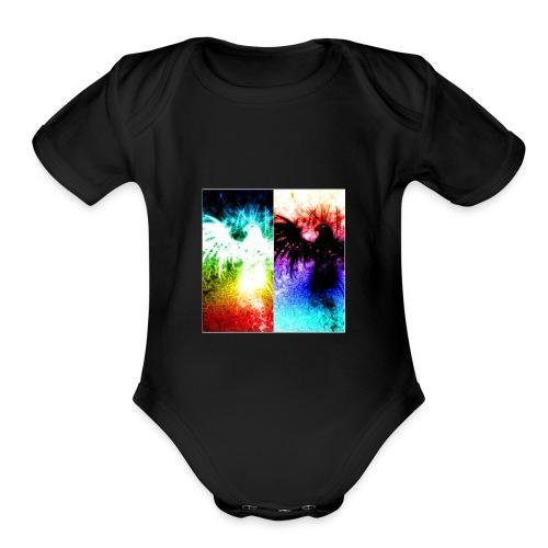 Birds of color - Organic Short Sleeve Baby Bodysuit
