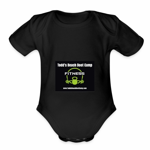 fitness icon vector - Organic Short Sleeve Baby Bodysuit