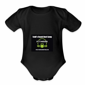 fitness icon vector - Short Sleeve Baby Bodysuit