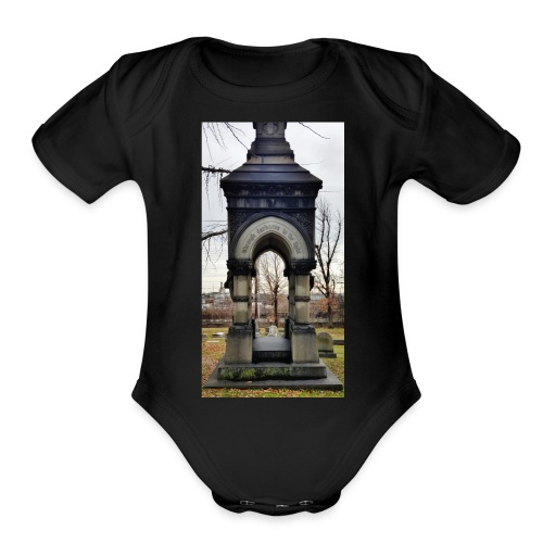 through the darkness - Organic Short Sleeve Baby Bodysuit