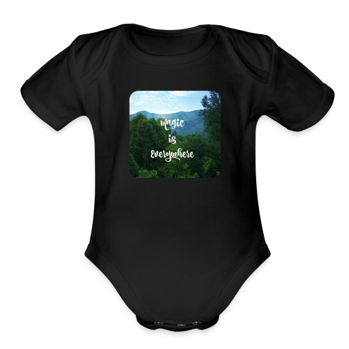 magic1 - Organic Short Sleeve Baby Bodysuit