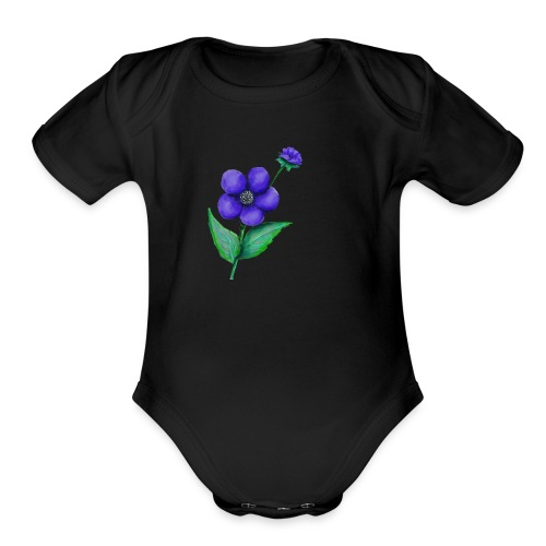 Flower - Organic Short Sleeve Baby Bodysuit