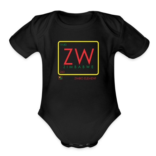 ZIMBO ELEMENT RATSA - Organic Short Sleeve Baby Bodysuit