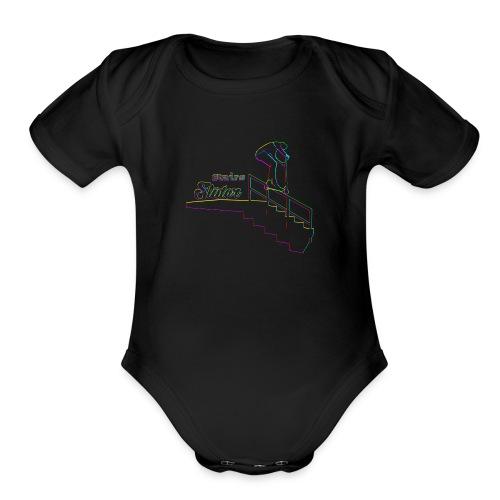 Stairs Sliders Techno - Organic Short Sleeve Baby Bodysuit