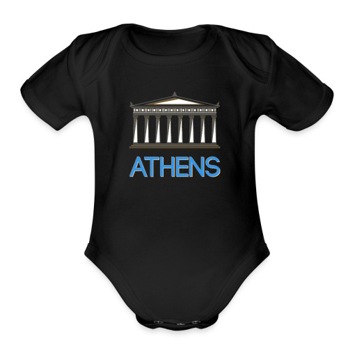 Athens - Greece - Organic Short Sleeve Baby Bodysuit