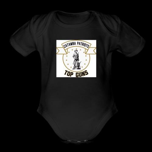 CatawbaPatriotsTopGuns - Organic Short Sleeve Baby Bodysuit
