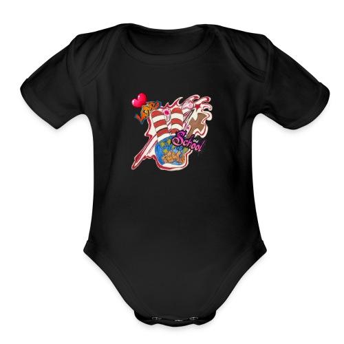 Peace old school - Organic Short Sleeve Baby Bodysuit