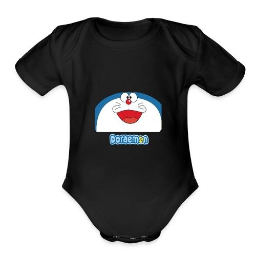 Doraemon - Organic Short Sleeve Baby Bodysuit