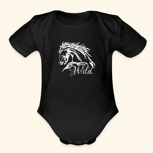 Wild As The Wind 3 - Siota - Organic Short Sleeve Baby Bodysuit