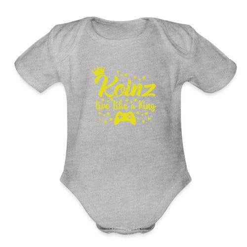 Live Like A King - Organic Short Sleeve Baby Bodysuit