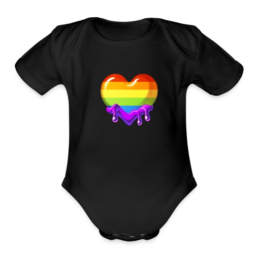Pride Emote - Organic Short Sleeve Baby Bodysuit