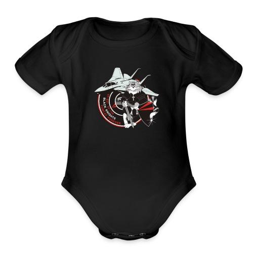 Black Knights - Tomcat Forever - Organic Short Sleeve Baby Bodysuit