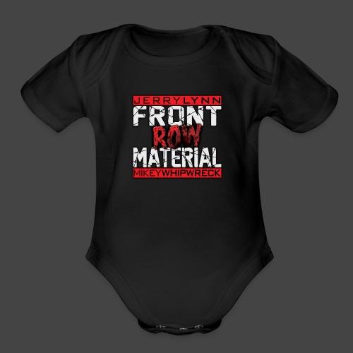 Front Row Material Logo - Organic Short Sleeve Baby Bodysuit