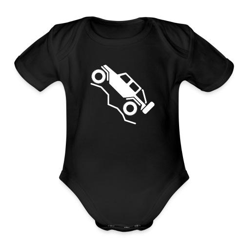Offroad 4wd Rock Crawling Logo - Organic Short Sleeve Baby Bodysuit