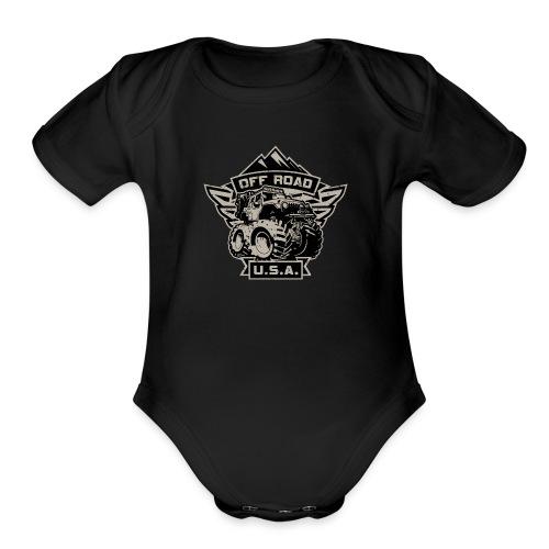 Off Road USA - Organic Short Sleeve Baby Bodysuit