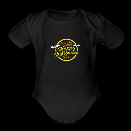 It's the most happy halloween time - Organic Short Sleeve Baby Bodysuit