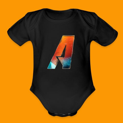 Acombative Multi colored logo - Organic Short Sleeve Baby Bodysuit