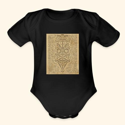 cult of baal map - Organic Short Sleeve Baby Bodysuit