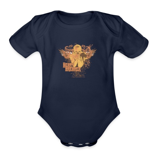 teetemplate54 - Organic Short Sleeve Baby Bodysuit