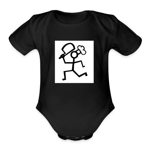 norman flims - Organic Short Sleeve Baby Bodysuit