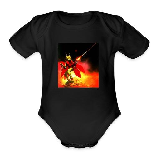 A Micronauts Repto - Organic Short Sleeve Baby Bodysuit