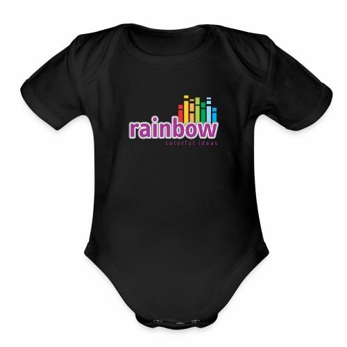 Rainbow Colorful Ideas - Organic Short Sleeve Baby Bodysuit