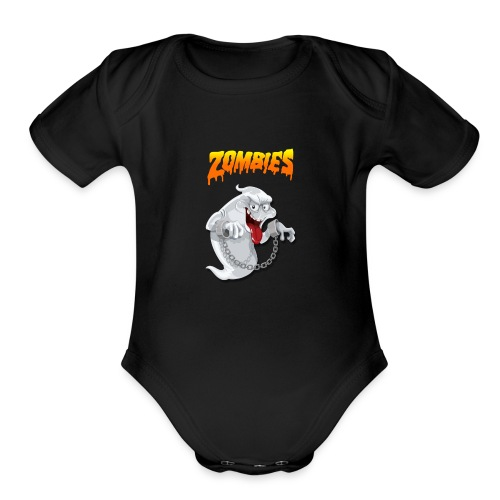 Funny t-shirt zombie & Funny t-shirt halloween - Organic Short Sleeve Baby Bodysuit