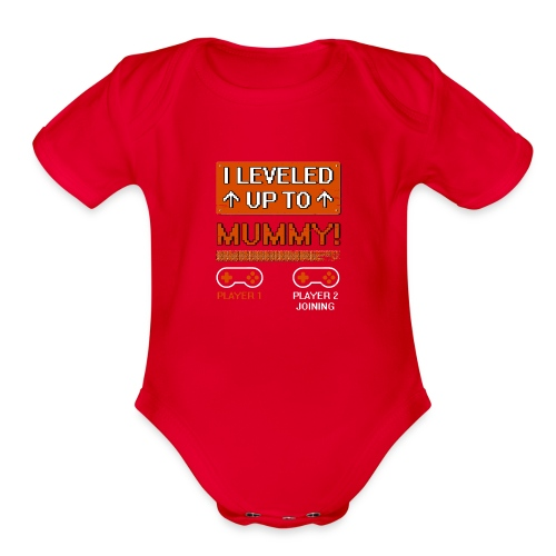 I Leveled Up To Mummy - Organic Short Sleeve Baby Bodysuit