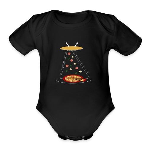 Pizza Funny Ovni - Organic Short Sleeve Baby Bodysuit