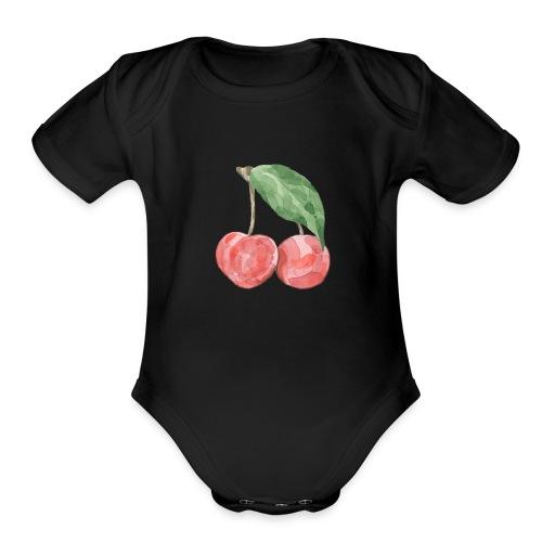 Cherries - Organic Short Sleeve Baby Bodysuit