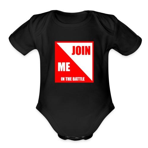 TheRedShirtLogo002 - Organic Short Sleeve Baby Bodysuit