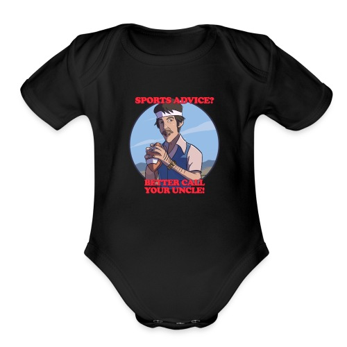Uncle Odds Fantasy Football Player DFS - Organic Short Sleeve Baby Bodysuit