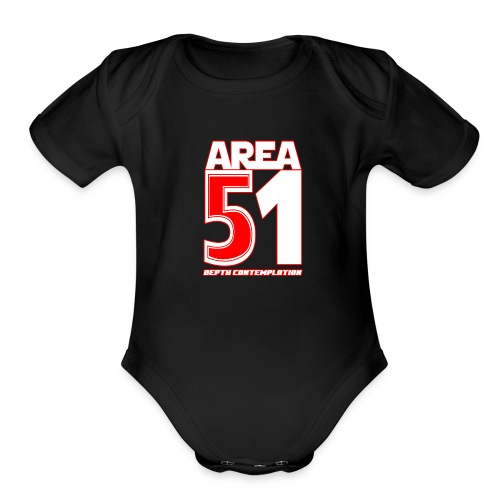 Area 51 T-Shirt Depth Contemplation - Organic Short Sleeve Baby Bodysuit