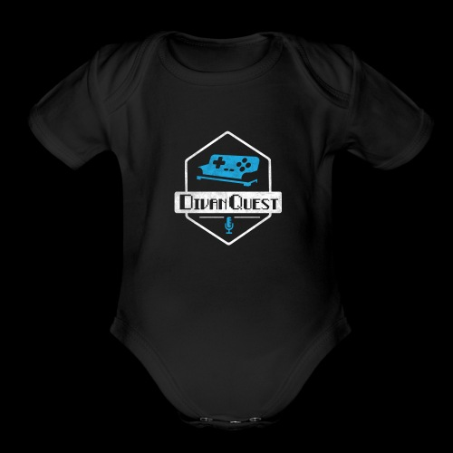 DivanQuest Logo (Badge) - Organic Short Sleeve Baby Bodysuit
